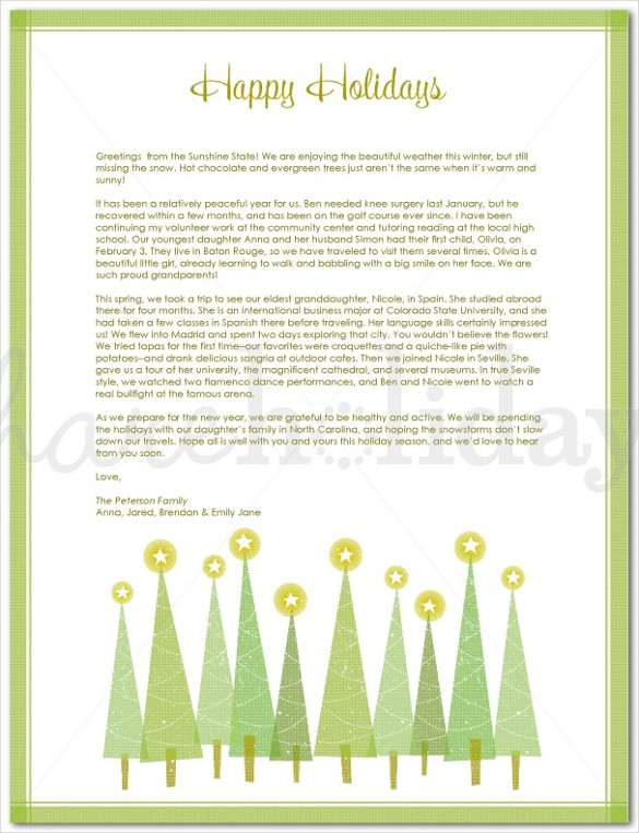 Holiday Letter Template – 16+ Free Word, PDF, PSD, Format Download