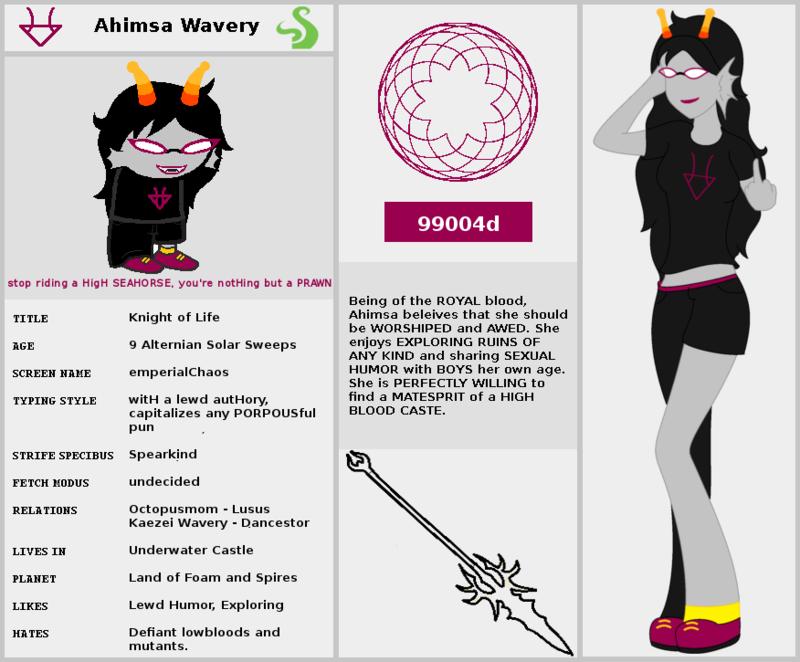 Ahimsa Wavery Homestuck Fantroll by DarkWoodsPrince on DeviantArt