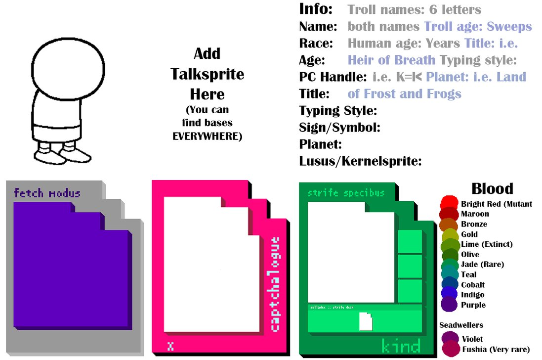 Self Made Homestuck Template by Lilie Post Its on DeviantArt