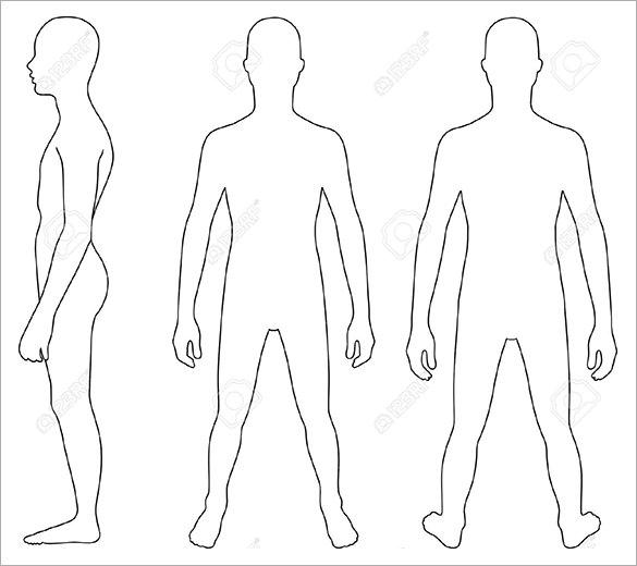 16+ Human Body Outline Templates DOC, PDF   Free & Premium Templates