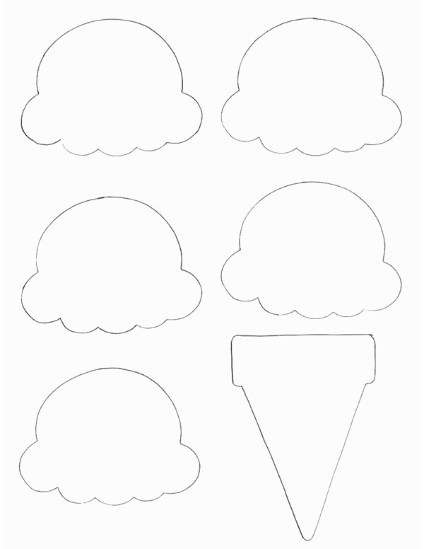 Food Crafts Print your Ice Cream Cone Template   All Kids Network