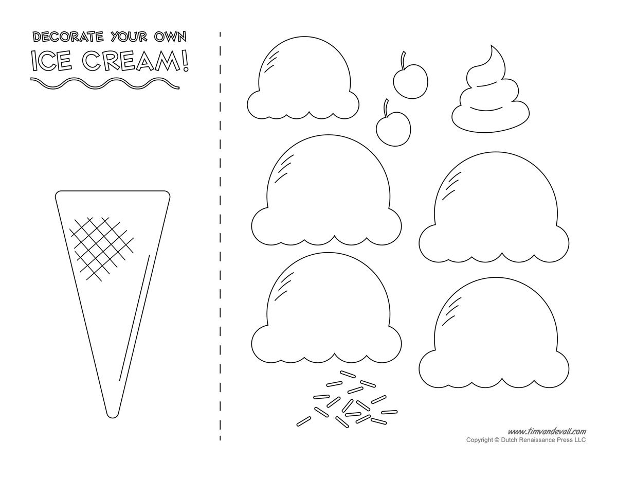 Food Crafts Print your Ice Cream Cone Template at AllKidsNetwork