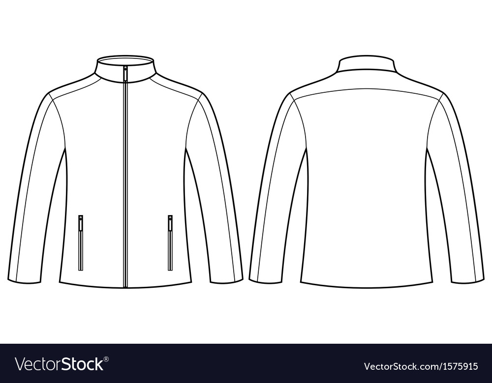 Jacket template front and back Royalty Free Vector Image