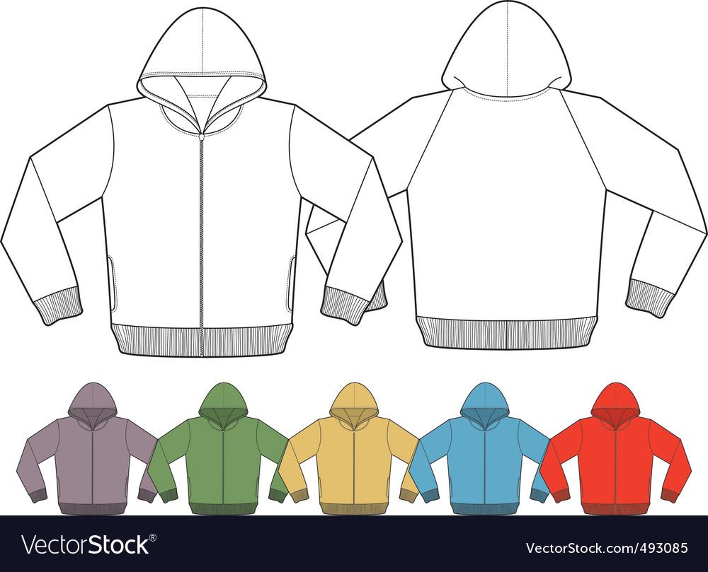 Jacket template Royalty Free Vector Image VectorStock