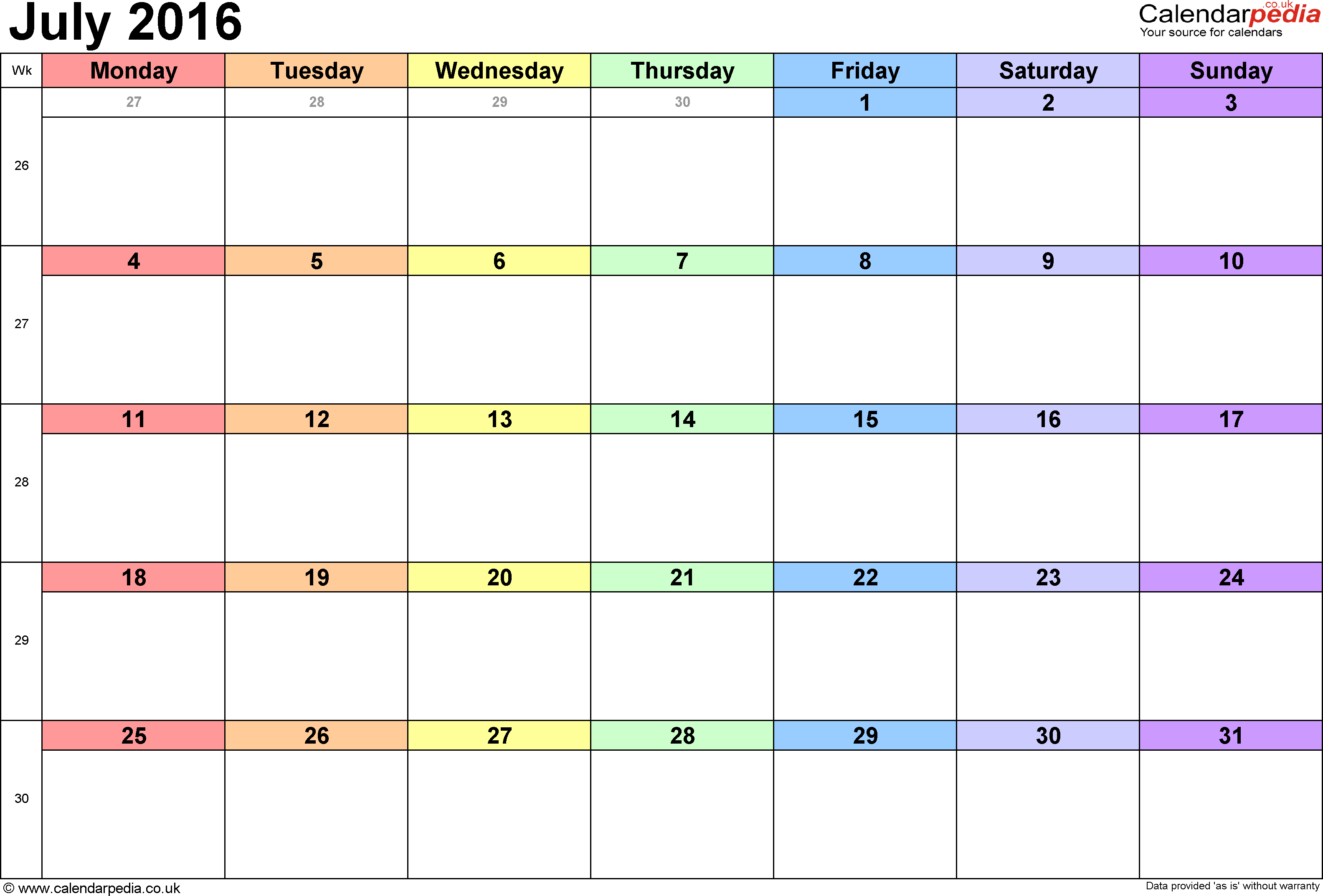 month of july calendar April.onthemarch.co