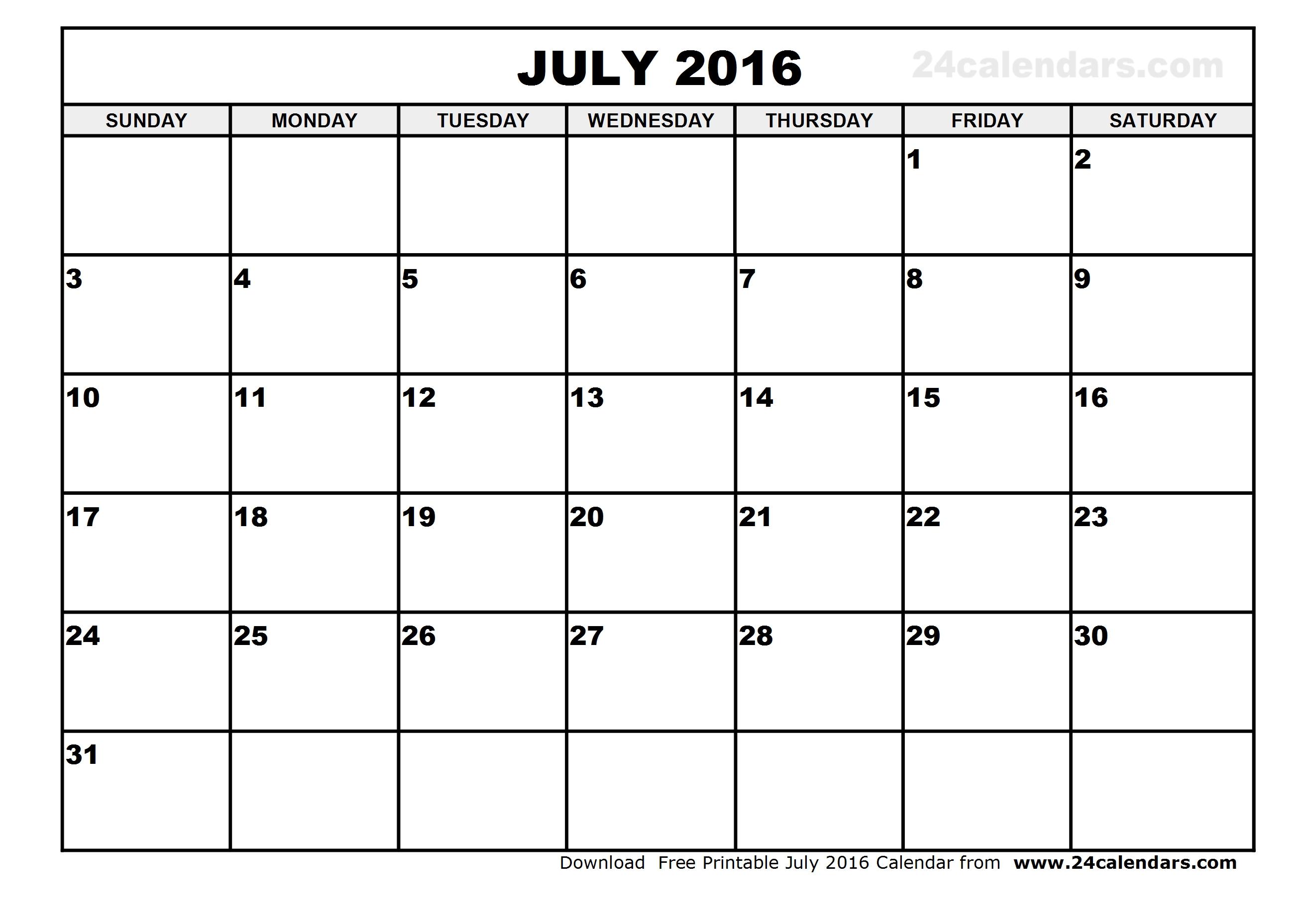 Brilliant Ideas for July 2016 Calendar Template Editable About
