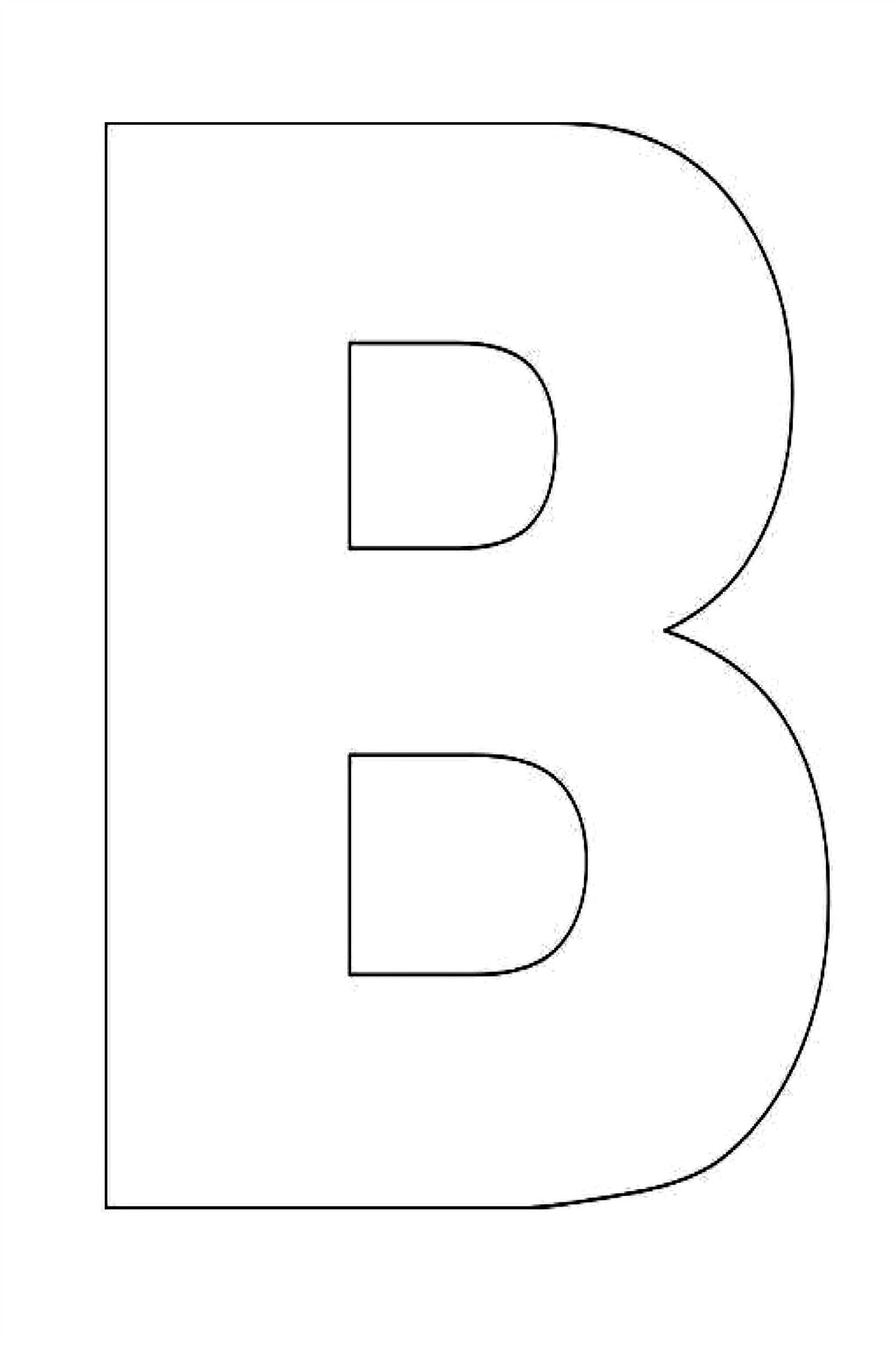 Alphabet Letter B Template For Kids | 000 Teaching 2/3 Class