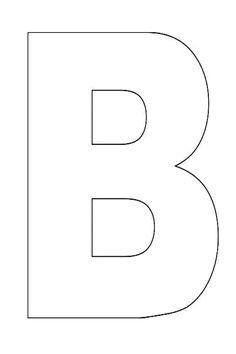 Uppercase Letter B Template Printable | Pinterest | Letter