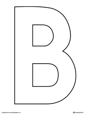 Lowercase Letter B Template Printable | MyTeachingStation.com