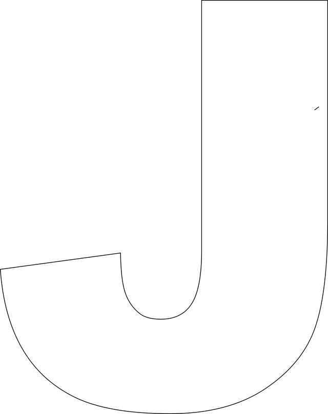 Uppercase Letter J Template Printable | Pinterest | Letter