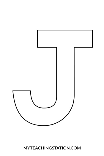 Letter J Template and Song for Kids from Kiboomu Worksheets Letter
