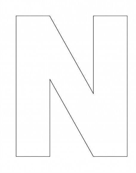 Printable Alphabet Letter N Template! Alphabet Letter N Templates
