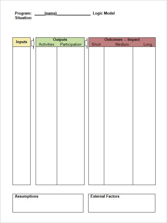 6+ Logic Model Templates – Free Word, PDF Documents Download