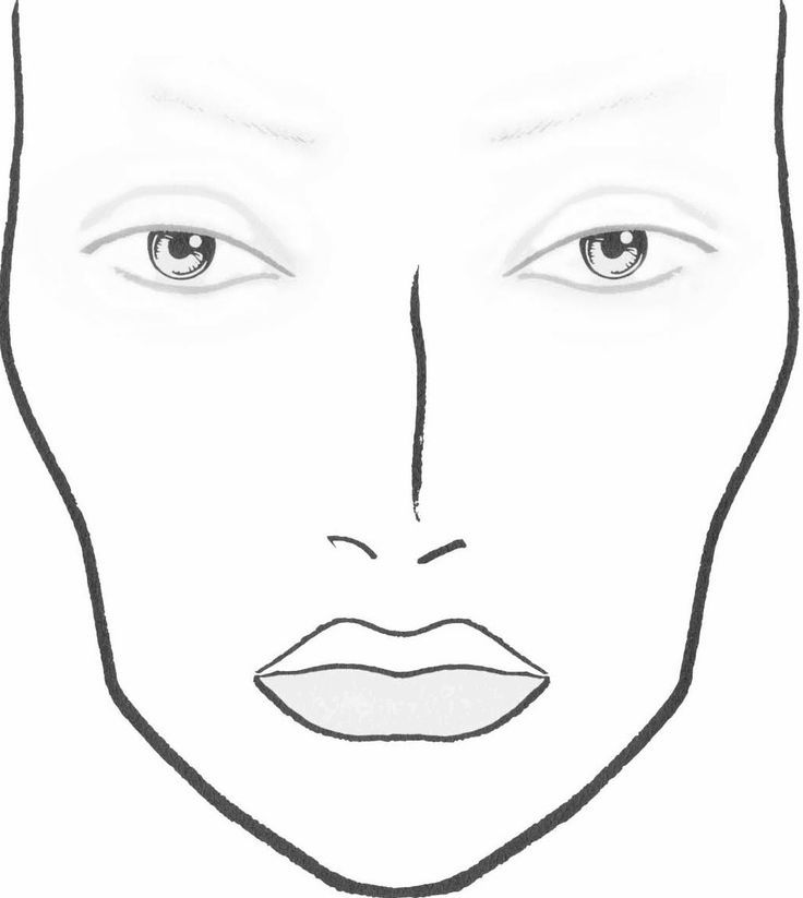 Blank Face Charts Blank Face Template For Makeup | Макияж