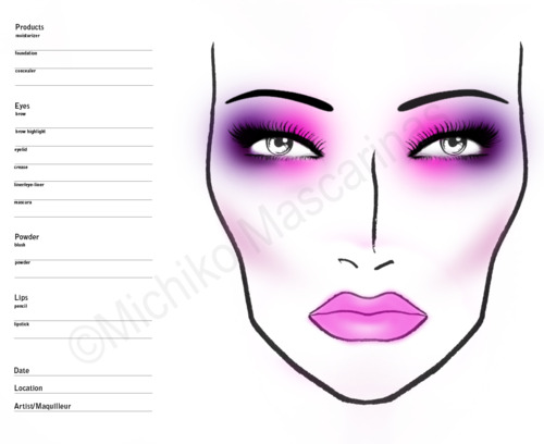 makeup template | Tumblr
