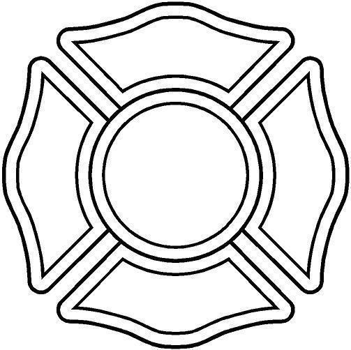 firefighter maltese cross stencil Google Search … | Maltese …