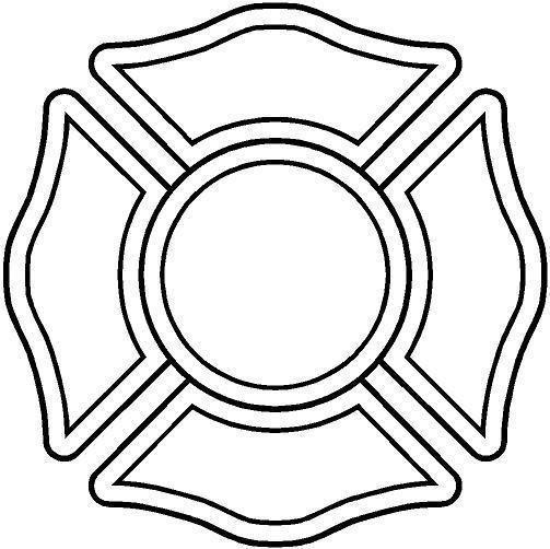 Black and White Firefighter Maltese Cross | fire safty | Pinterest