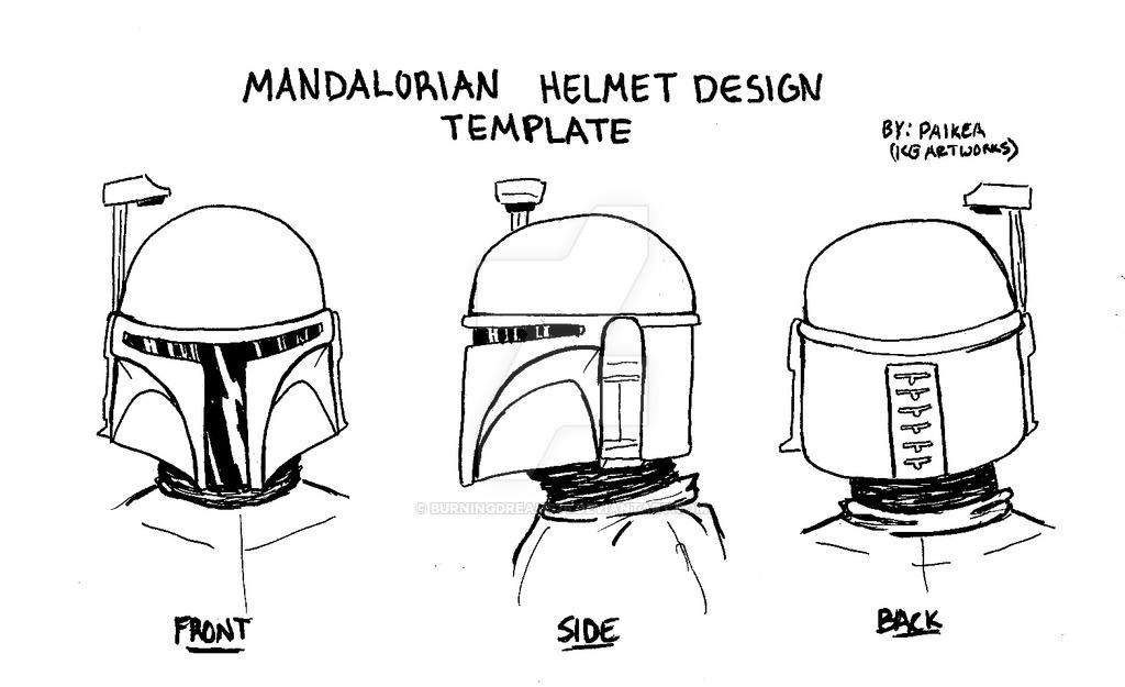 Mandalorian helmet design template 2 by burningdreams76 on DeviantArt
