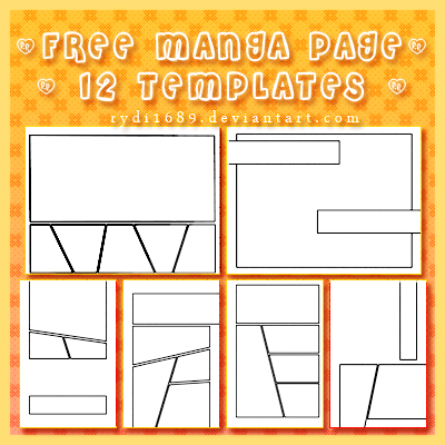 TEMPLATE Page Layouts on Manga Apps DeviantArt