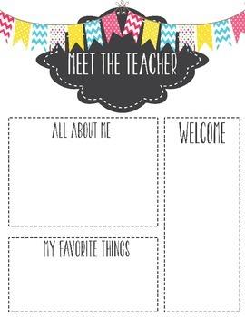 Meet the Teacher Template Letter by Miss Kiz | Teachers Pay Teachers