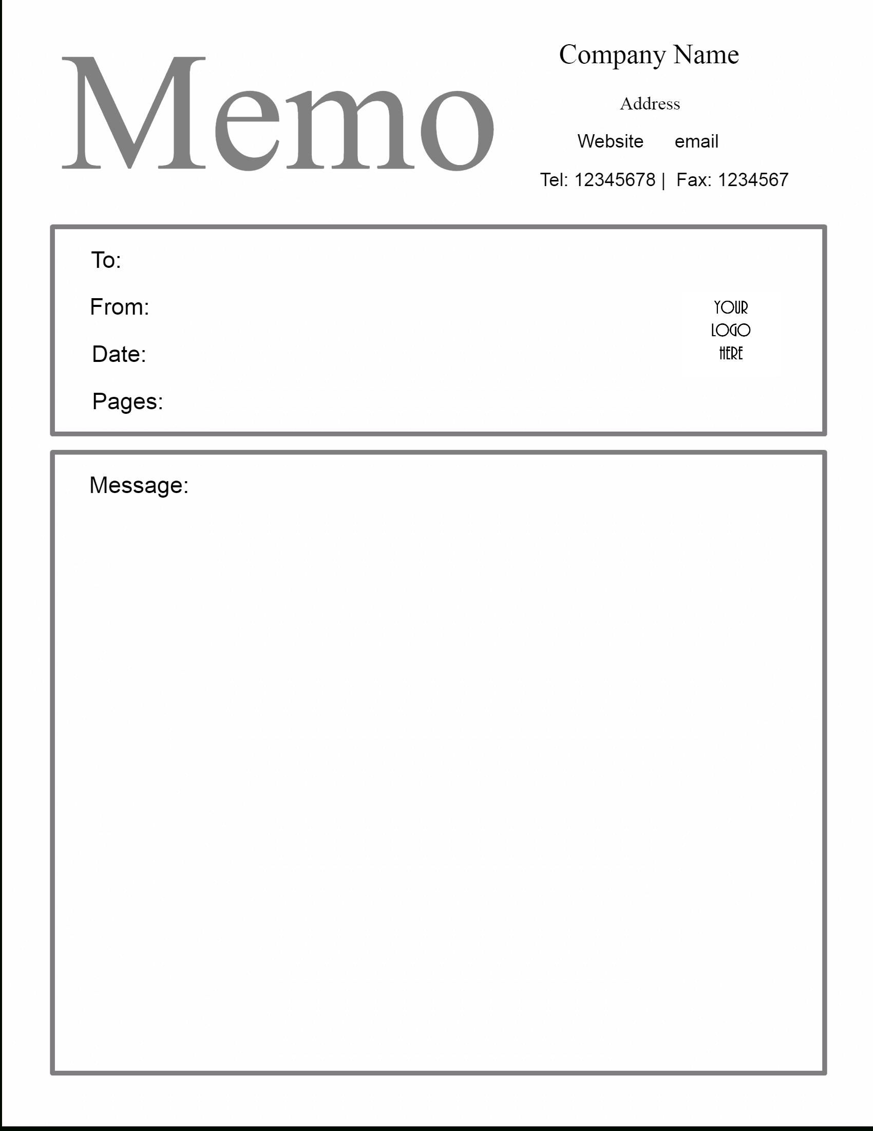 Memo Template Google Docs | Business Template