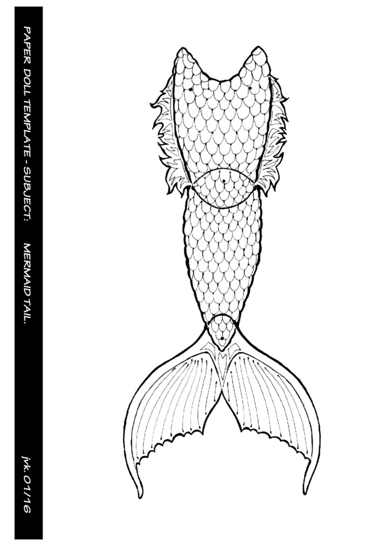 Free Mermaid Tail Template Large | Shapes and Templates