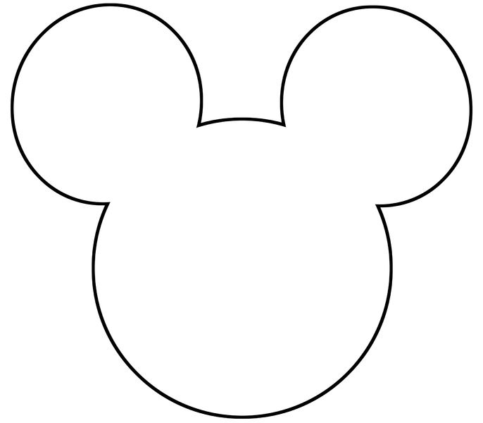 Mickey Mouse Face Silhouette at GetDrawings.| Free for
