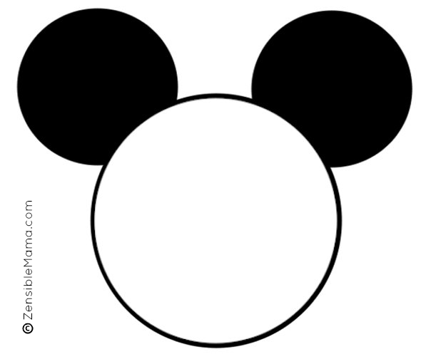 Large Mickey Mouse Head Template Images Design Ideas Gallery
