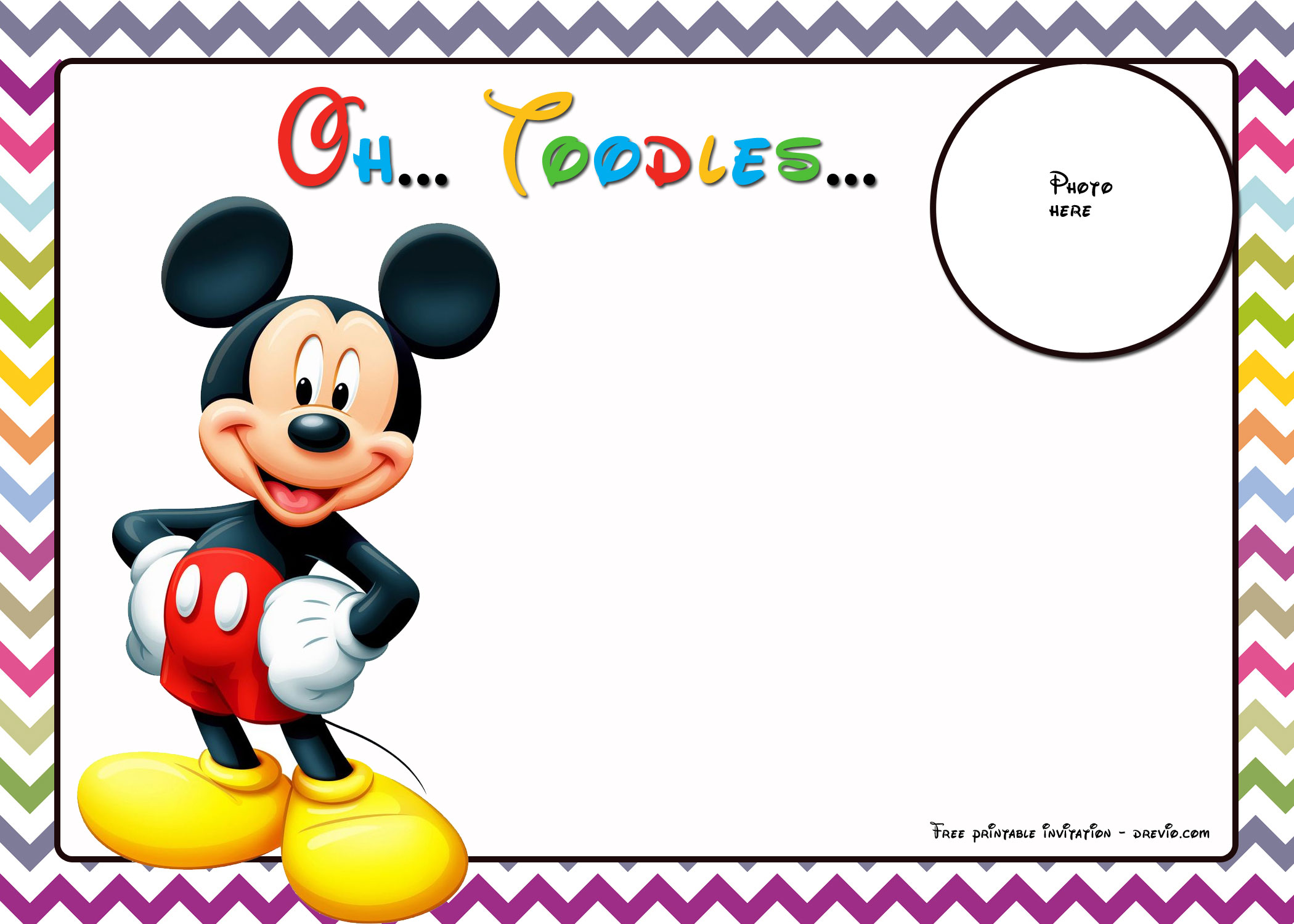 Free Mickey Mouse Birthday Invitations Inspirational Mickey Mouse