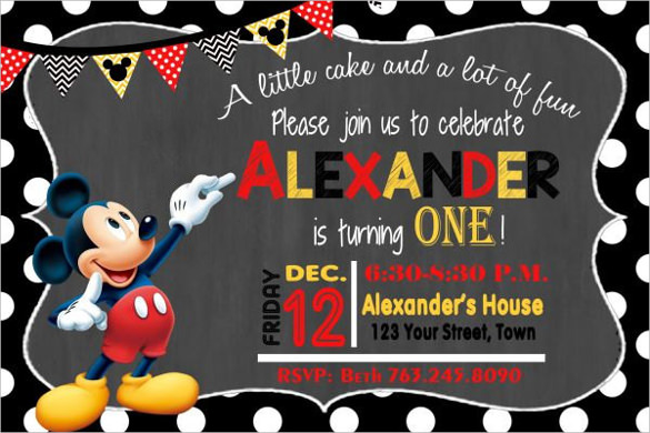 31+ Mickey Mouse Invitation Templates Free Sample, Example