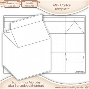 Template Milk Carton Box Stock Vector 86692360 Shutterstock