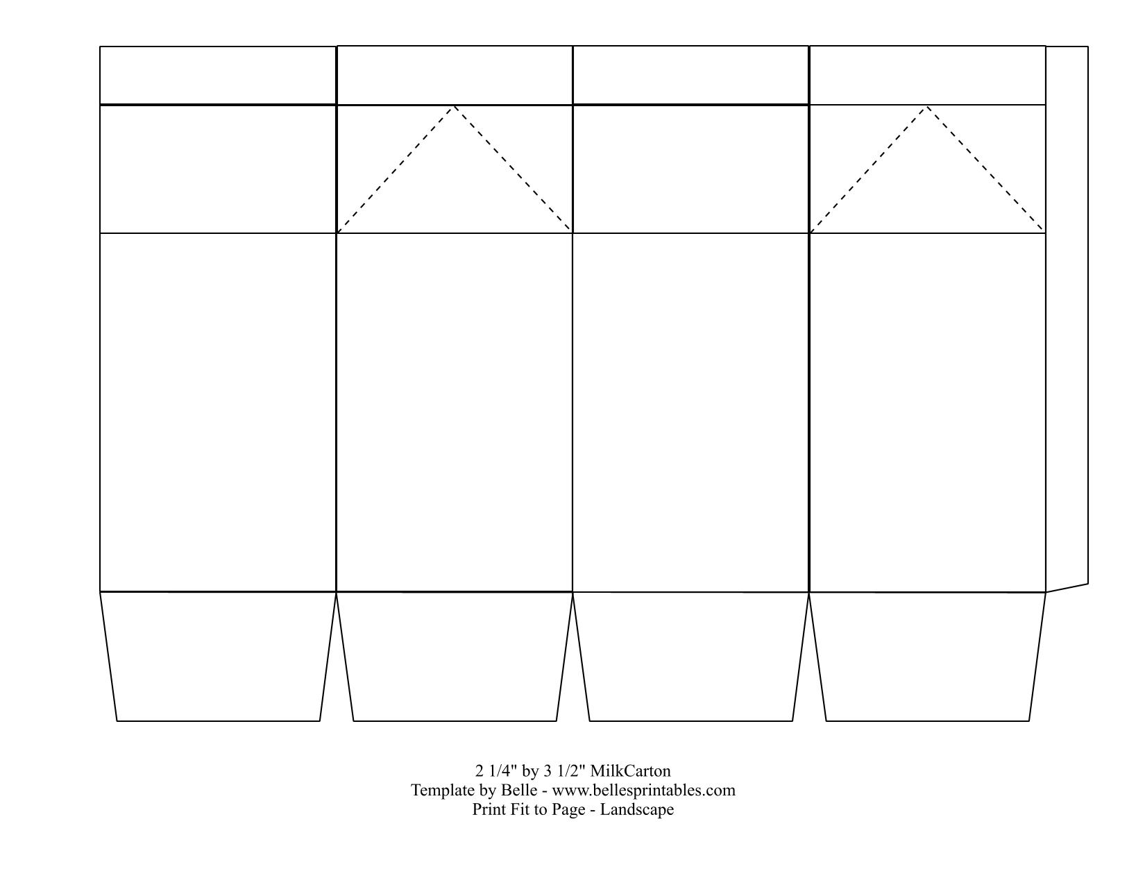 EASY MILK CARTON BOX TEMPLATE: You like the milk carton box idea