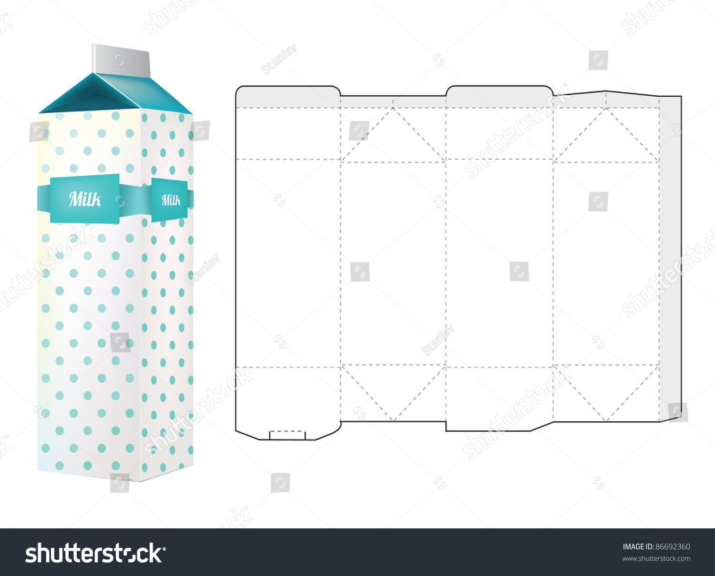 Milk Carton Box Template by disdaindespair on DeviantArt