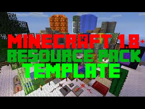 Minecraft 1.8.1 Resource Pack Template!!! YouTube