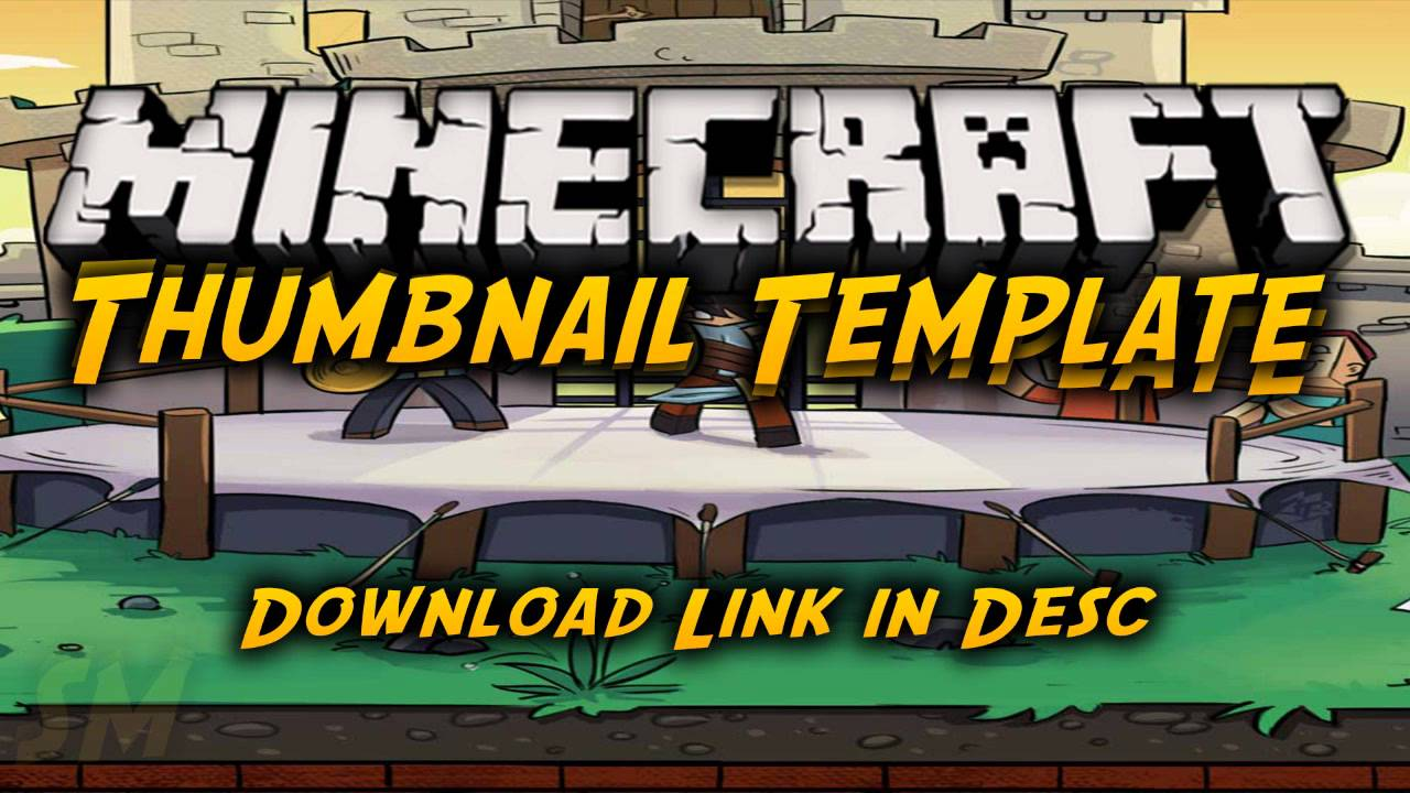 Minecraft: Thumbnail Template (PSD) YouTube