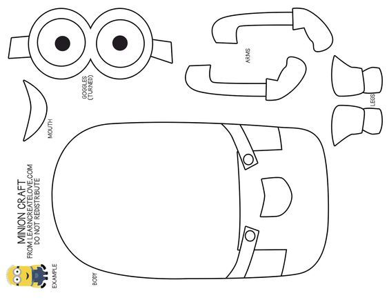 minion cut out template Google Search: | etkinliikler
