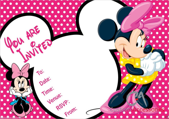 32+ Minnie Mouse Birthday Invitation Templates Free Sample