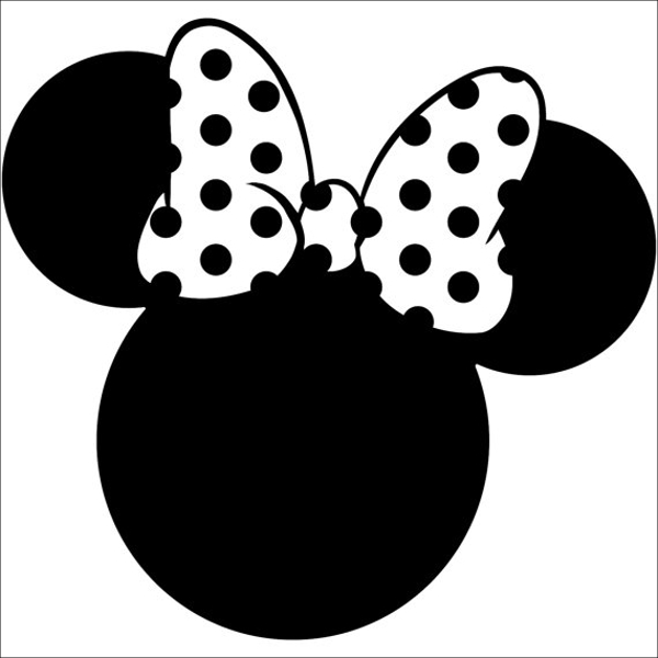 Minnie Mouse Silhouette Template 7 Mapiraj