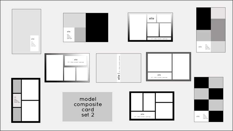 Model Comp Card Templates | Model Composite Card Templates | PSD