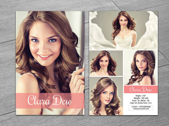 Modeling Comp Card Template Fashion Model Card Microsoft