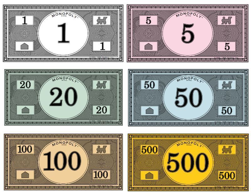 Where to print your own Monopoly money | Pinterest | Monopoly