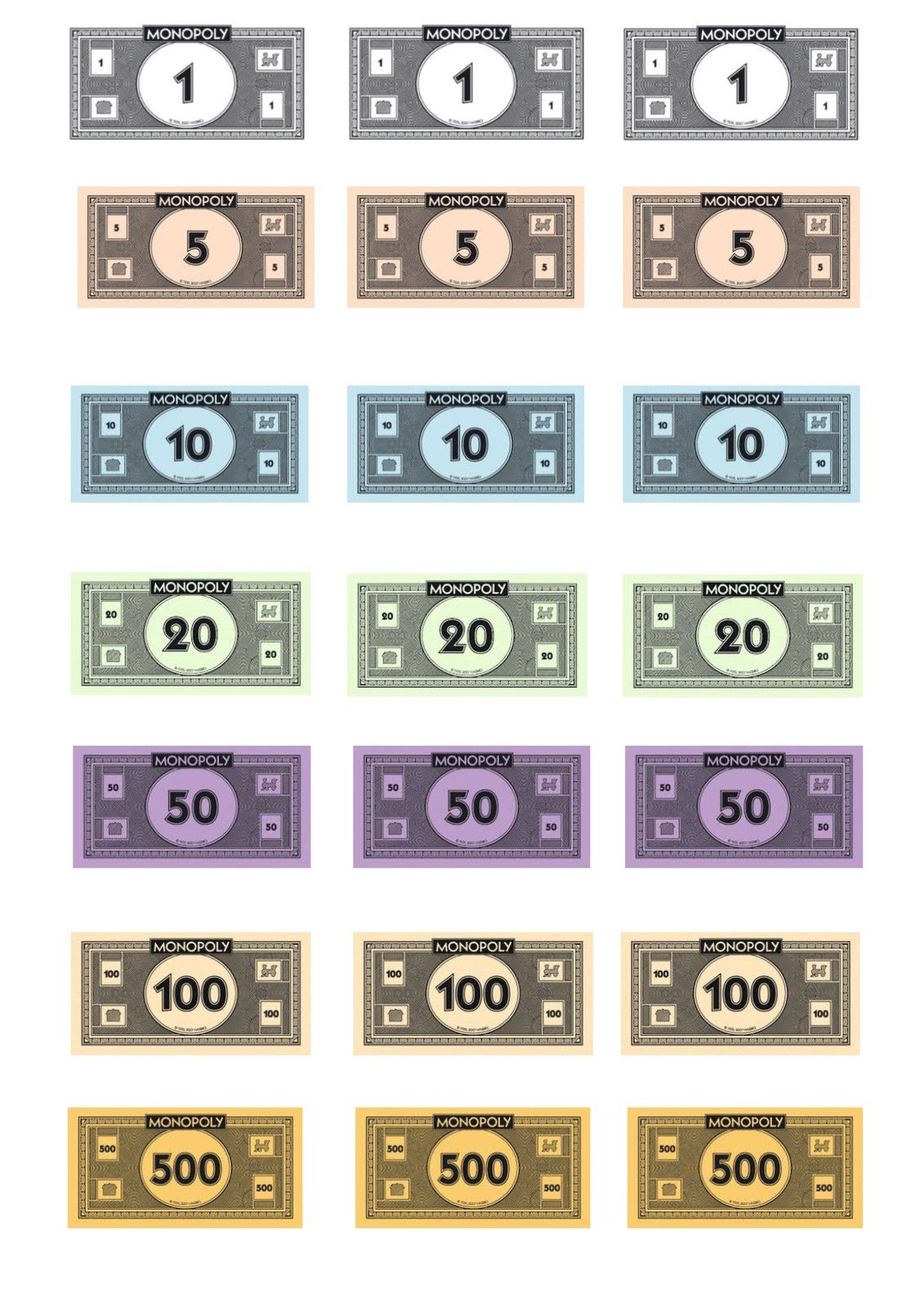 Free Monopoly Money template | Templates at allbusinesstemplates.com