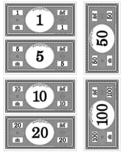 Monopoly Money Template Print | Monopoly | Pinterest | Monopoly