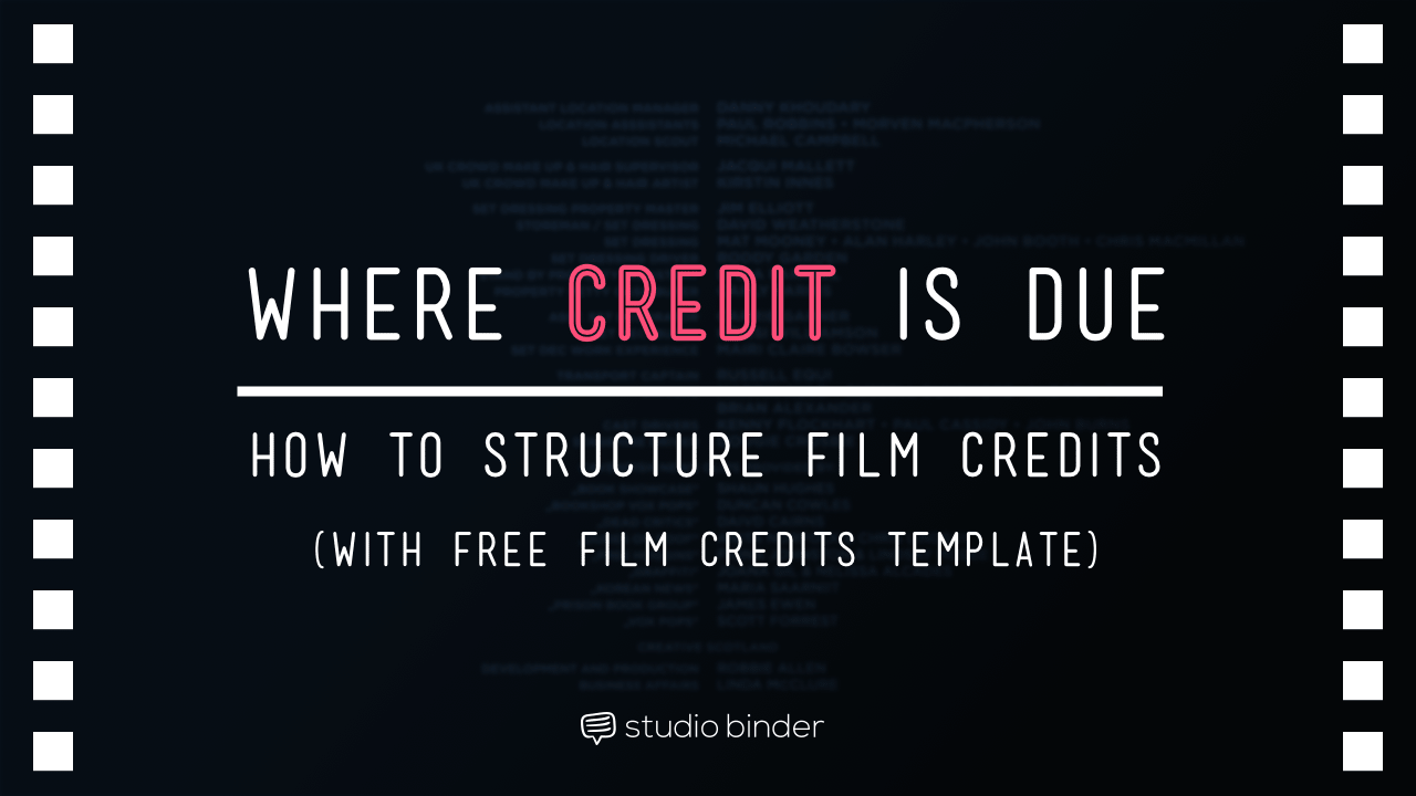 The Ultimate Guide to Film Credits Order Hierarchy (with Template)