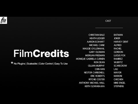 Film Credits | After Effects template YouTube