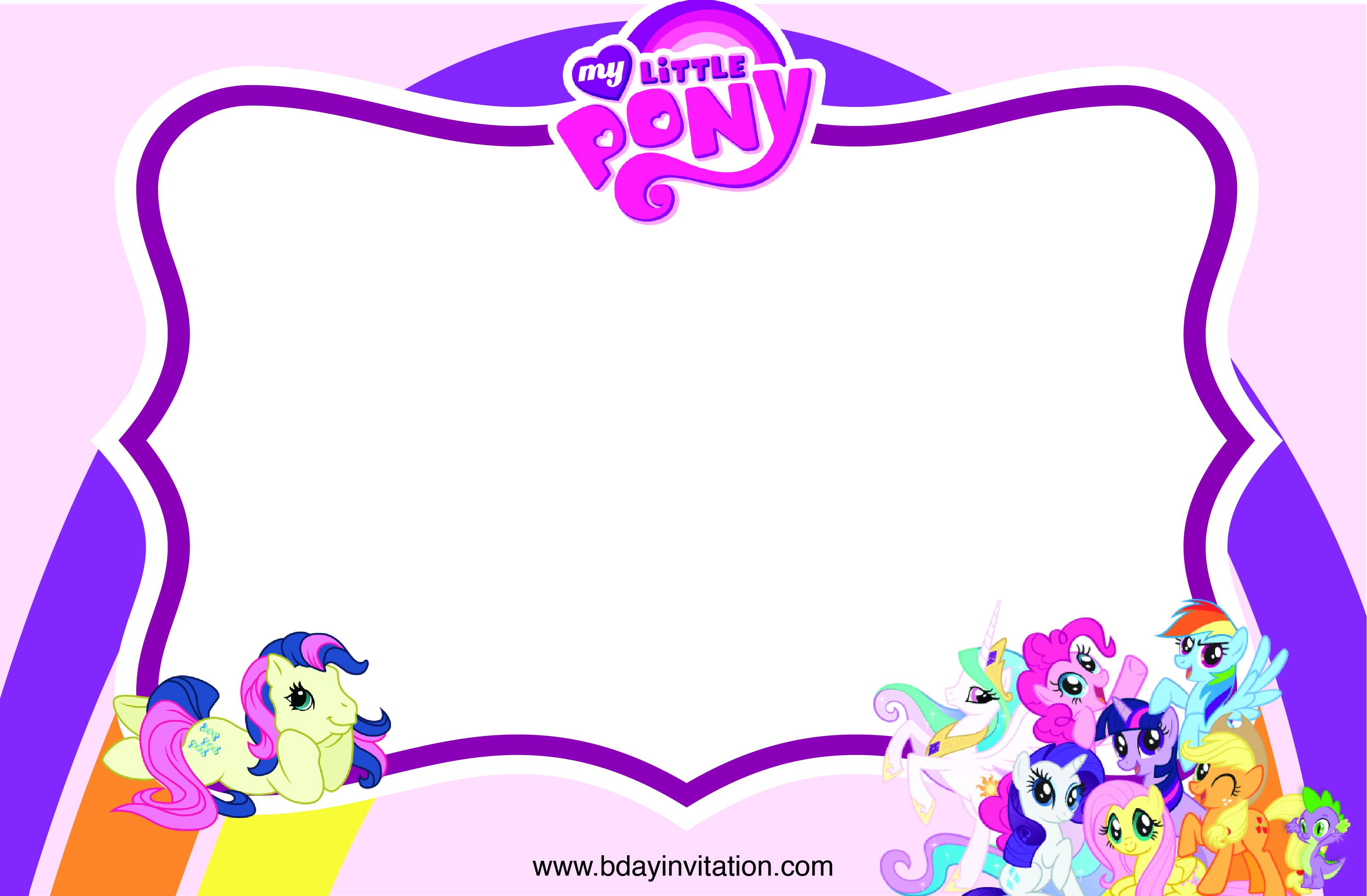 Free Printable My Little Pony Invitations … | Printabl…