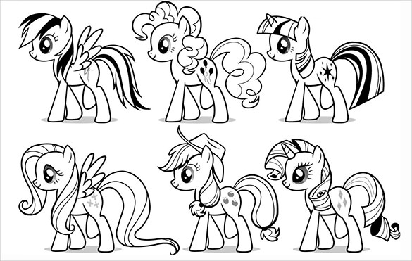 Super cool templates to design your own My Little Pony wayyyy