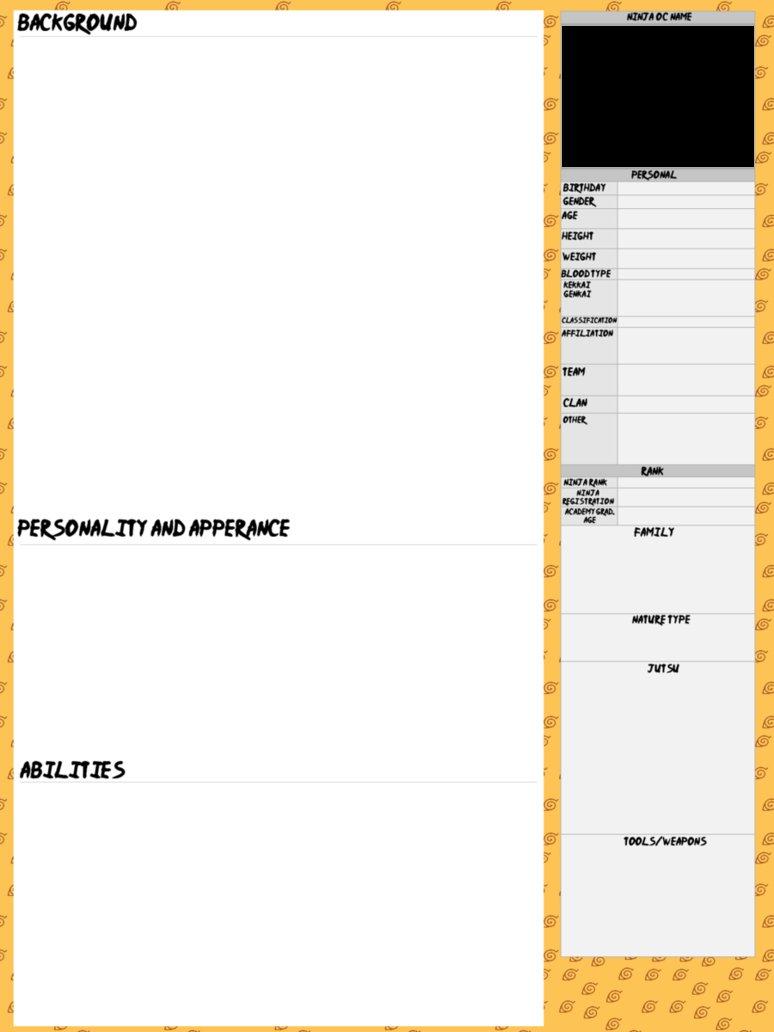 Naruto Ninja OC Template by InuyashaRules6596 on DeviantArt
