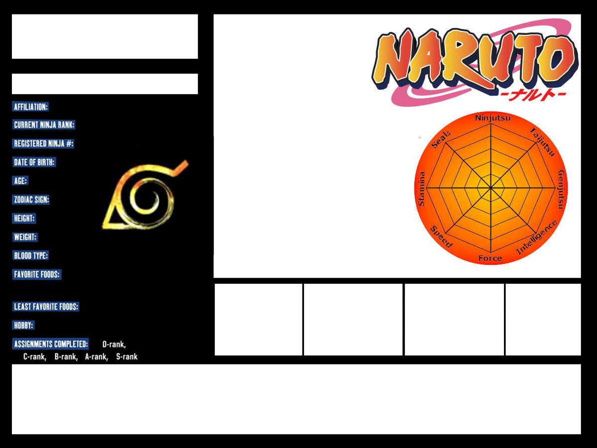 Naruto OC Profile Templates by SerenEvy on DeviantArt