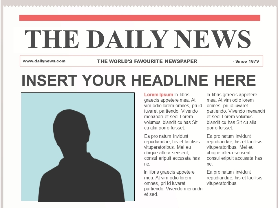 Newspaper Article Template For Google Docs | World of Label